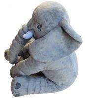 Totland Fluffy Elephant Pillow Dark Grey