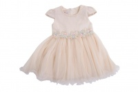 cream bigger girls party dress