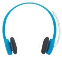 h150 stereo headset with mic sky blue