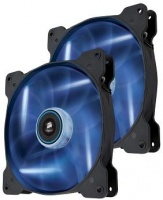 air series blue quiet edition af120 120mm chassis fan twin