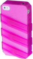 claw translucent case for iphone44s pink