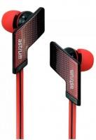 eb350 sports stereo earphone mic red