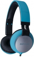 hs400 fabric cable 35mm stereo headset in line mic blue