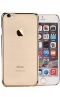 mc110 transparent iphone 66s uv mobile case gold