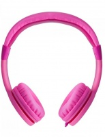 hs150 kids safe 85db wired headphones pink