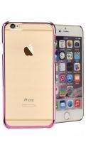 mc110 transparent iphone 66s uv mobile case pink