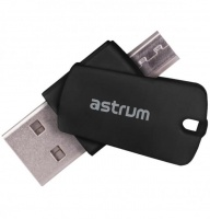 astrum cr100 2 in 1 otg card reader for pc smart devices blank media accessory