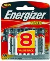 energizer max alkaline aa 15v 8 pack battery
