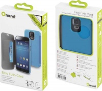 muvit folio case for samsung galaxy s5 blue