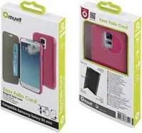 muvit folio case for samsung galaxy s5 mini pink
