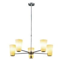 radiant dezi chandelier 5 globe fitting white lighting ceiling fan
