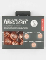 kikkerland moroccan string lights copper lighting ceiling fan