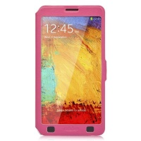 ahha arias magic flip case for samsung note 3 fuchsia