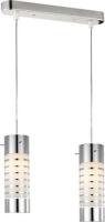 radiant rib pendant light 2 globe fitting chrome lighting ceiling fan