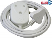 ellies extension cord with 2 x 10a coupler 3m cables adapter