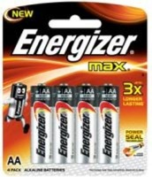 energizer max alkaline aa 15v 4 pack battery