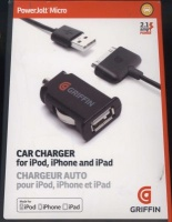 griffin powerjolt micro car charger ipod iphone ipad and media player accessory