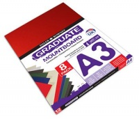 daler rowney graduate mountboard a3 assorted 8 pack