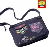 ses childrens denim handbag deco set craft supply