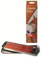 derwent drawing set of 6 in tin art supply