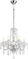 radiant panache crystal chandelier 5 globe fitting chrome lighting ceiling fan