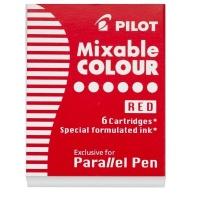 pilot parallel lettering pen ink cartridge set of 6 red art supply