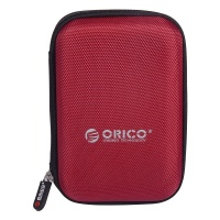 orico 25 portable hard drive protector bag red