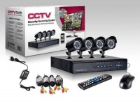 cctv 4channel dvr kit with 900tvl dome or bullet