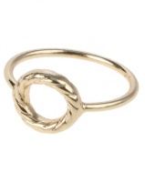 que boutique karma knuckle ring gold tone jewellery set