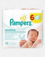 pampers baby wipes sensitive 6s 6x56 wipe