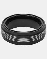 skagen rasmus steel multi ring black jewellery set