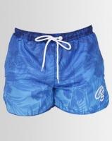 crosshatch mythrop gradient print swim shorts blue swimwear