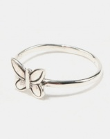 joy collectables butterfly ring sterling silver jewellery set