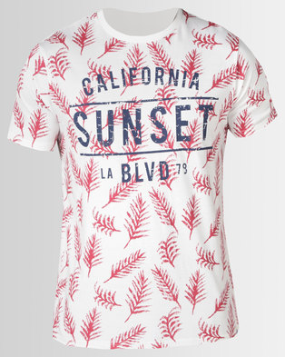 Photo of South Shore Sketch Sunset T-shirt Ivory