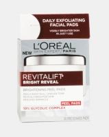 loreal bright reveal brightening peel pads skin care