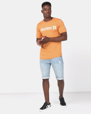 Photo of Hurley One & Only Short Sleeve Solid T-Shirt Rust