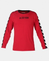 zoo york core long sleeve tape tee red dh pant