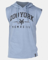 zoo york high and low curve hooded tee blue dh pant