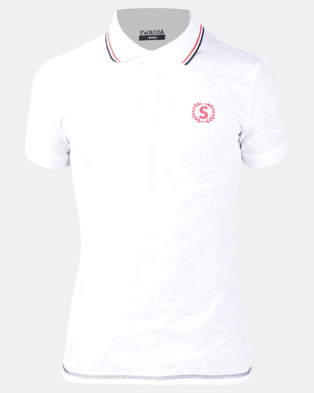 Photo of Swagga Golfer with Collar Detail White