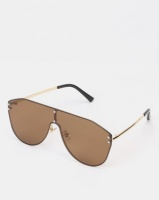 you i and vintage pilot sunglasses gold accessory