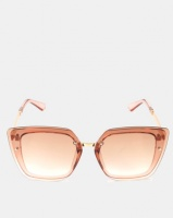 you i and transparent caramel butterfly sunglasses accessory