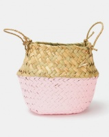 utopia wicker miniature basket pink