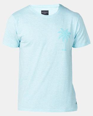 Photo of D-Struct Aqua Palm Print T-shirt Blue