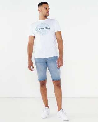 Photo of Bellfield Friends Of The Earth Organic Cotton Sea T-Shirt White
