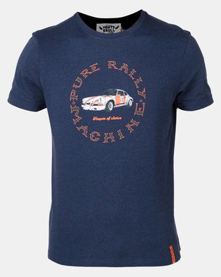 Photo of Vents Brull Melange Pure Rally T-Shirt Navy