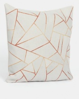 utopia geometric scatter cushion cover white cushion