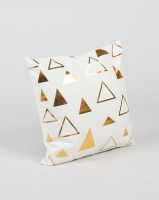 utopia foil triangle scatter cushion cover gold cushion