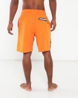 utopia swim shorts with inner support orange swimwear
