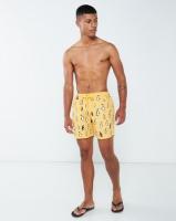 granadilla penguins swim shorts yellow swimwear