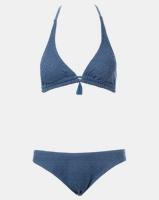 contempo lace bikini top indigo swimwear